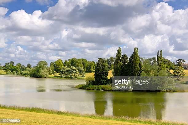 Landscape with Park at Blenheim Palace, Woodstock, Oxfordshire, England, UK.