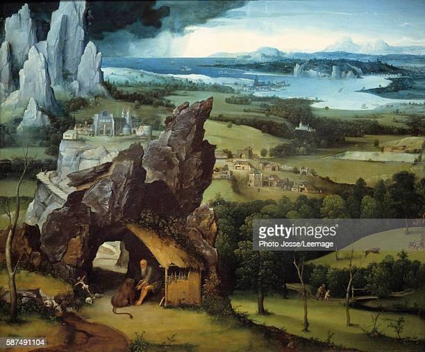 Landscape with Saint Jerome Painting by Joachim Patinir 1516151774 x 091 m Prado Museum Madrid