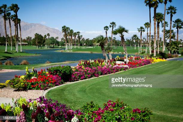Landscaped gardens on a golf course