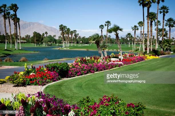Jardins paysagers sur un parcours de golf