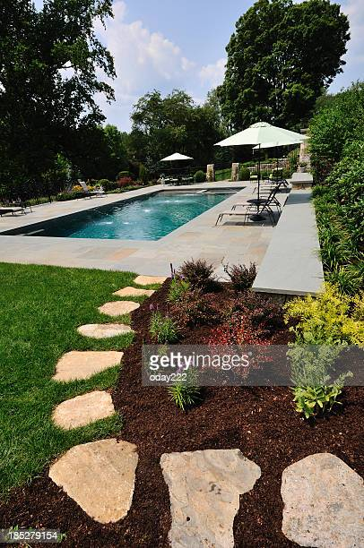 Landscaped Pool and Path