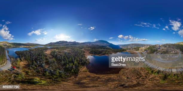 360 VR Landscapes - Gustatoppen, the highest mountain in the county Telemark in Norway