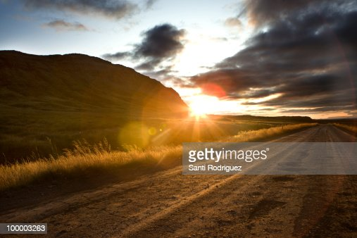 Landscapes of iceland with sunset : Foto de stock