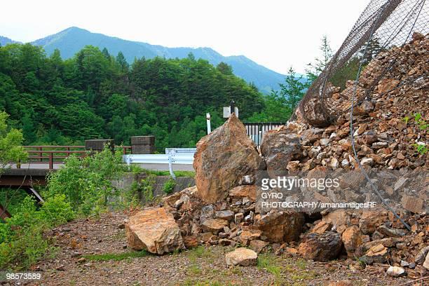 Landslide, Mt. Norikura, Matsumoto, Nagano Prefecture, Japan