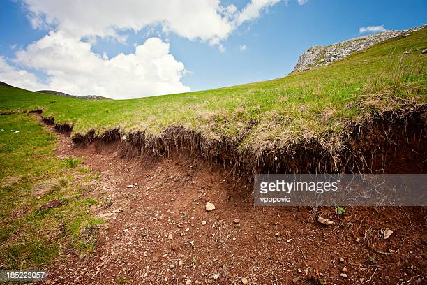 Soil erosion stock photos and pictures getty images for Soil uk tour 2016