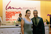 Lane Bryant model Ashley Graham and Jay Manuel pose for a photo during Fashion Guru Jay Manuel Hosts Lane Bryant's Fashion Night Out on September 6...