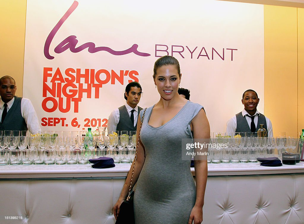 Lane Bryant model Ashley Graham poses for a photo during Fashion Guru Jay Manuel Hosts Lane Bryant's Fashion Night Out on September 6, 2012 in Brooklyn, New York.