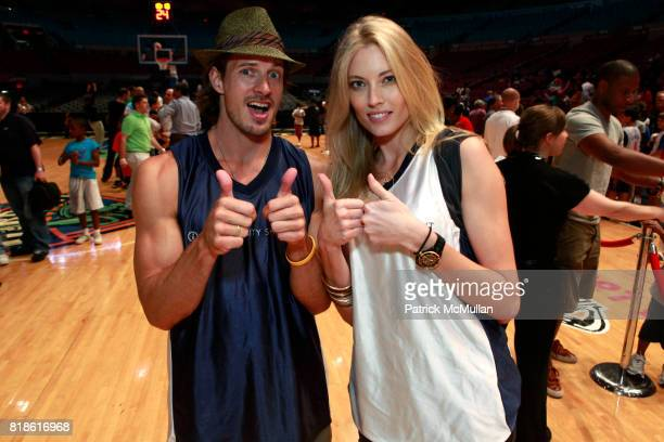 Lane Carlson and Jennifer Ohlsson attend 8th Annual iStar Charity Shootout at Madison Square Garden on June 21 2010 in New York City