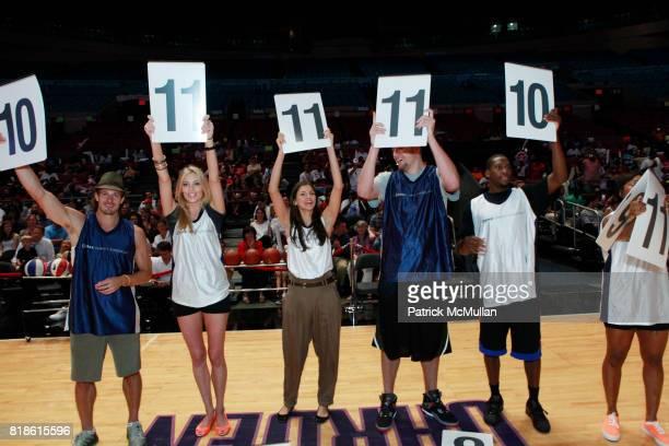 Lane Carlson Jennifer Ohlsson Alejandra Cata David Lee Toney Douglas and Cappie Pondexter attend 8th Annual iStar Charity Shootout at Madison Square...