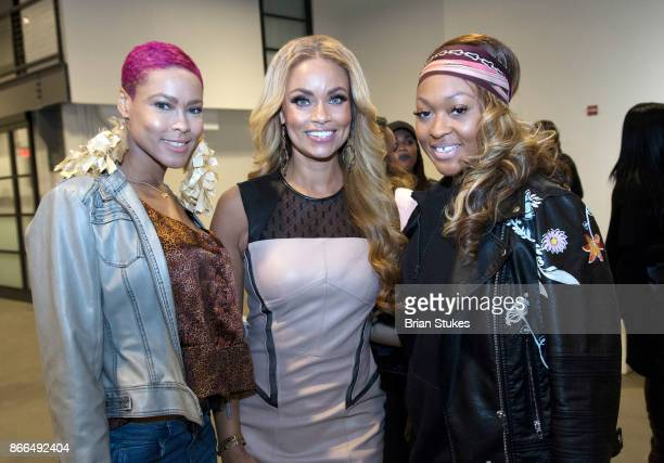 Lanea Cierra Gizelle Bryant and Lacy Fields attend Every Hue Beauty PopUp at The Showroom on October 25 2017 in Washington DC