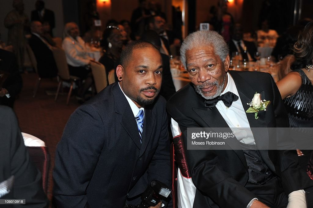 Lanero Hill and actor Morgan Freeman attend the 23rd Annual 'A Candle in the Dark' Gala at the Hyatt Regency on February 19, 2011 in Atlanta, Georgia.