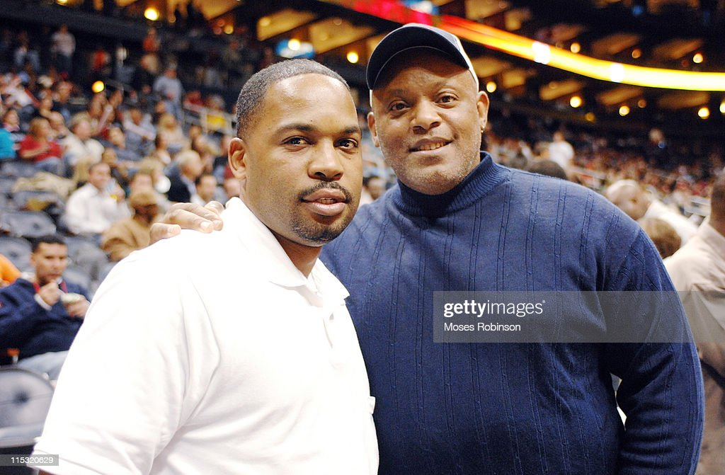 Lanero Hill and Former Detroit Tigers Player <a gi-track='captionPersonalityLinkClicked' href=/galleries/search?phrase=Cecil+Fielder&family=editorial&specificpeople=220765 ng-click='$event.stopPropagation()'>Cecil Fielder</a>