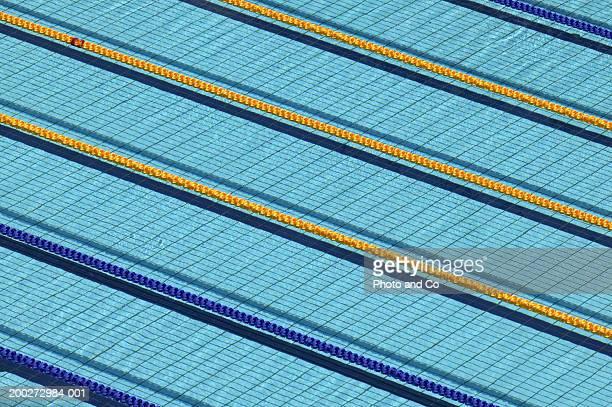 Lanes in swimming pool