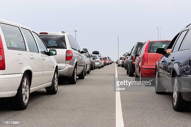 レーンの queuing 車
