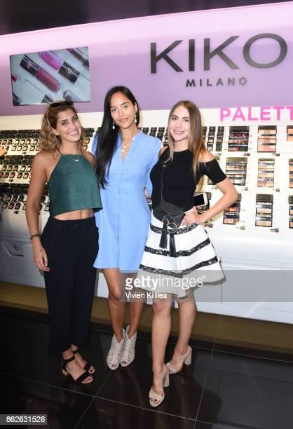 Laney Clark Alejandra Rodriguez and Valentina Marchetti attend Louise Roe For Kiko Milano At Kiko Milano Hollywood Venue on October 14 2017 in...
