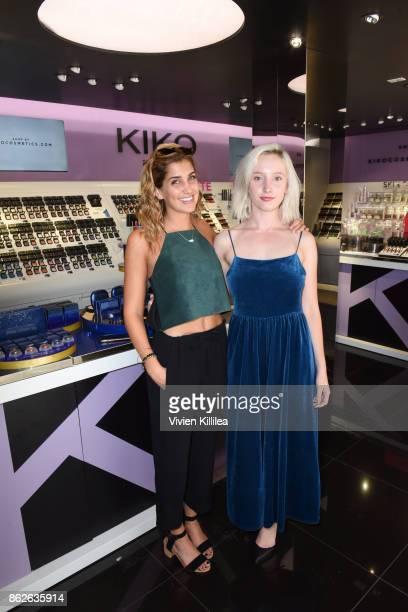 Laney Clark and Rosemary Olsen attend Louise Roe For Kiko Milano At Kiko Milano Hollywood Venue on October 14 2017 in Hollywood California