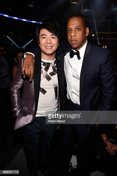 Lang Lang and Jay Z attend The 57th Annual GRAMMY Awards at STAPLES Center on February 8 2015 in Los Angeles California