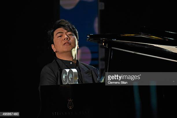 Lang Lang is seen on stage at the GQ Men of the year Award 2015 show at Komische Oper on November 5 2015 in Berlin Germany