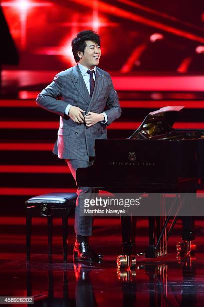 Lang Lang is seen on stage during the Bambi Awards 2014 show on November 13 2014 in Berlin Germany