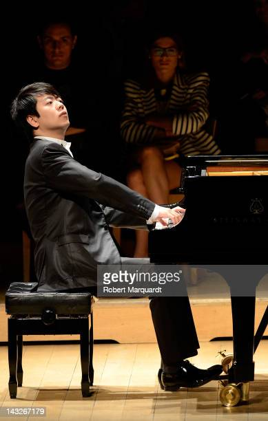 Lang Lang performs in concert at the L'Auditori on April 22 2012 in Barcelona Spain