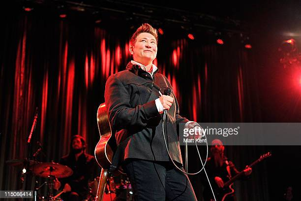 K D Lang performs at the Royal Festival Hall on June 2 2011 in London England