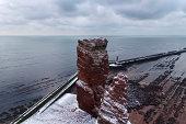 Tall Anna, A freestanding cliff on Helgoland. A natural landmark.