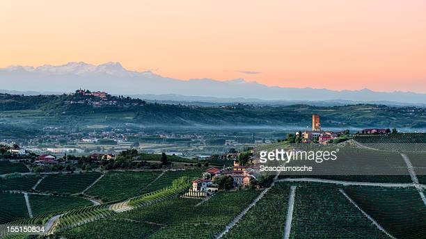 Langhe, Piedmont at dusk