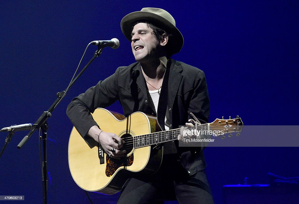 Langhorne Slim aka Sean Scolnick performs at The Fox Theatre on February 19 2014 in Oakland California