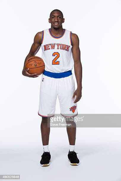Langston Galloway of the New York Knicks poses for a portrait at Media Day at the MSG Training Facility in Greenburgh New York on September 28 2015...