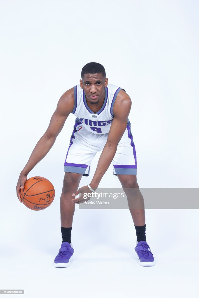 Langston Galloway #9 of the Sacramento Kings poses for a photo on February 24, 2017 at the Golden 1 Center in Sacramento, California.