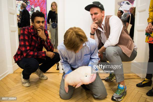 Langston Uibel and Daniel Termann attend the 'mad love' Australian contemporary artists group exhibition opening at Arndt Art Agency on June 6 2017...