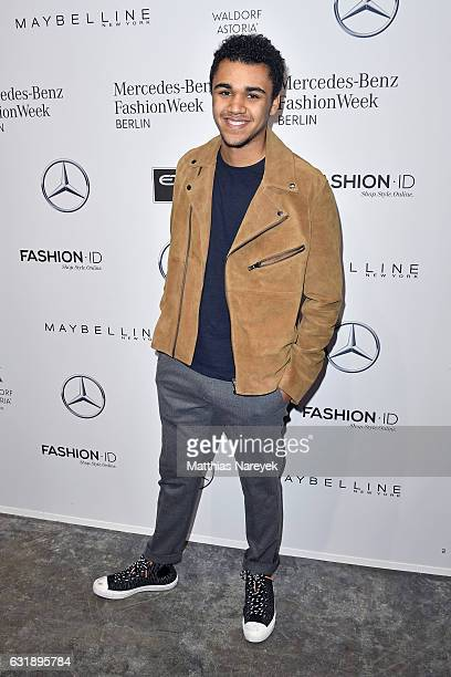Langston Uibel attends the Hien Le show during the MercedesBenz Fashion Week Berlin A/W 2017 at Kaufhaus Jandorf on January 17 2017 in Berlin Germany