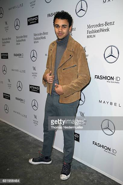 Langston Uibel attends the Leonie Mergen show during the MercedesBenz Fashion Week Berlin A/W 2017 at Kaufhaus Jandorf on January 18 2017 in Berlin...