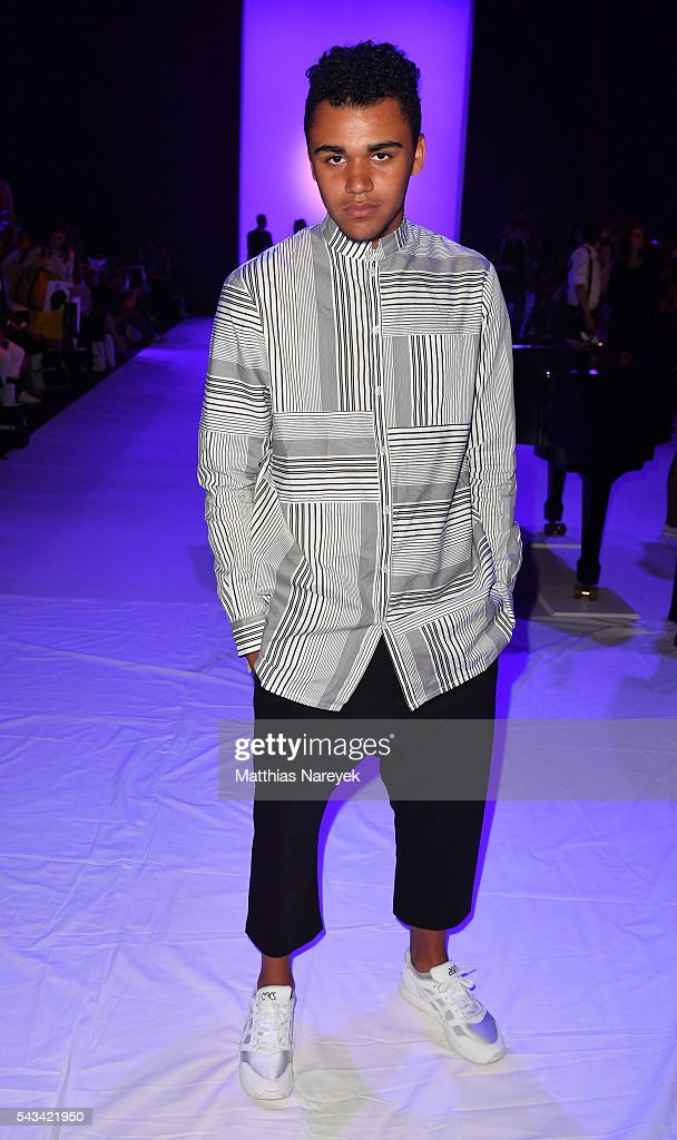 Langston Uibel attends the Odeur show during the Mercedes-Benz Fashion Week Berlin Spring/Summer 2017 at Erika Hess Eisstadion on June 28, 2016 in Berlin, Germany.