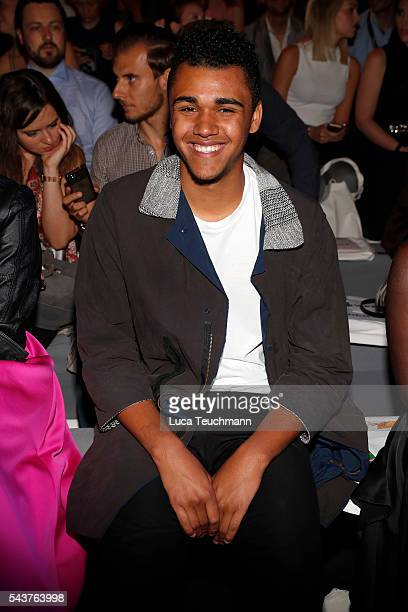 Langston Uibel attends the Wataru Tominaga presented by MercedesBenz Elle show during the MercedesBenz Fashion Week Berlin Spring/Summer 2017 at...
