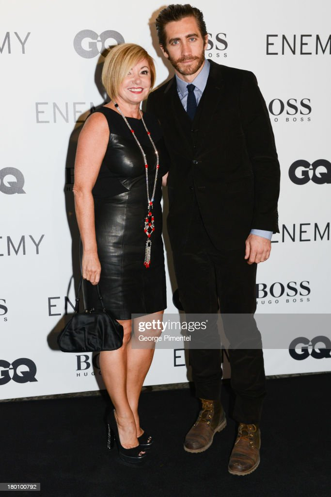 Lanita Layton managing director of HUGO BOSS Canada and Actor Jake Gyllenhaal attends Hugo Boss Party during the 2012 Toronto International Film...