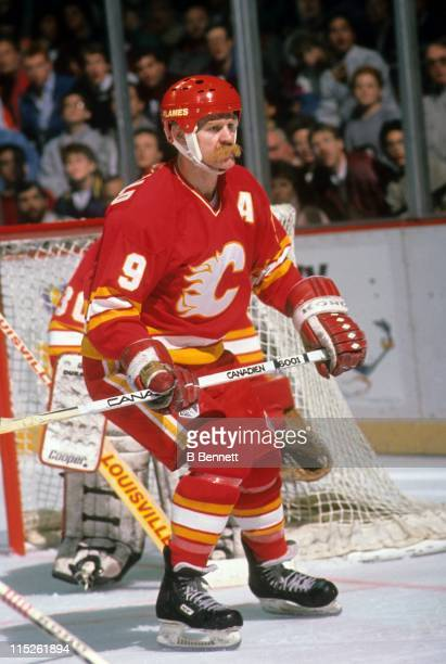 Lanny McDonald of the Calgary Flames skates on the ice during an NHL game circa 1986