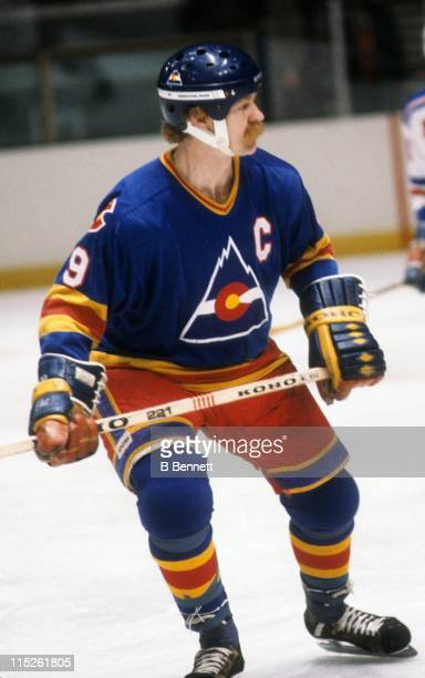 Lanny McDonald of the Colorado Rockies skates on the ice during an NHL game against the New York Rangers on March 11 1981 at the Madison Square...