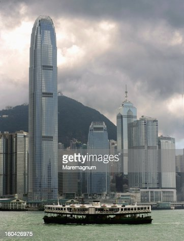 Lantau Island, buildings and skyscrapers : Stock Photo