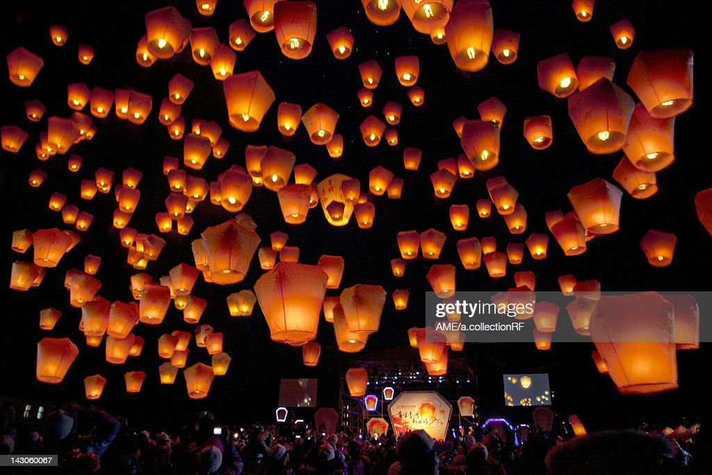 Lantern festival, Shifen, Taiwan