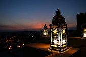 Lantern in the desert