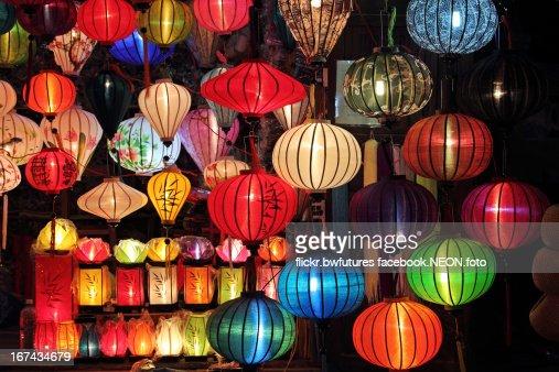 Lantern Street, Hoi An : Foto de stock