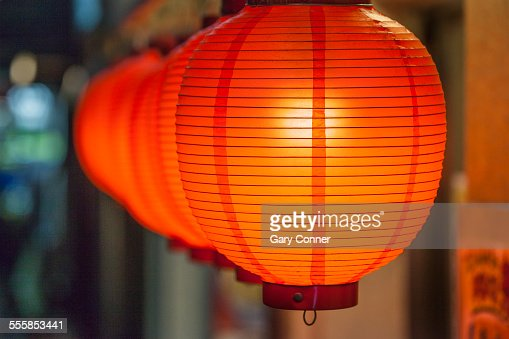 Lanterns at Chinese restaurant