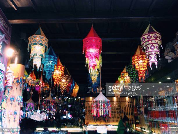 Lanterns Hanging In Shop For Sale