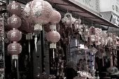 Lanterns in china town new york