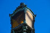 Lanterns lamp, blue sky, Munich