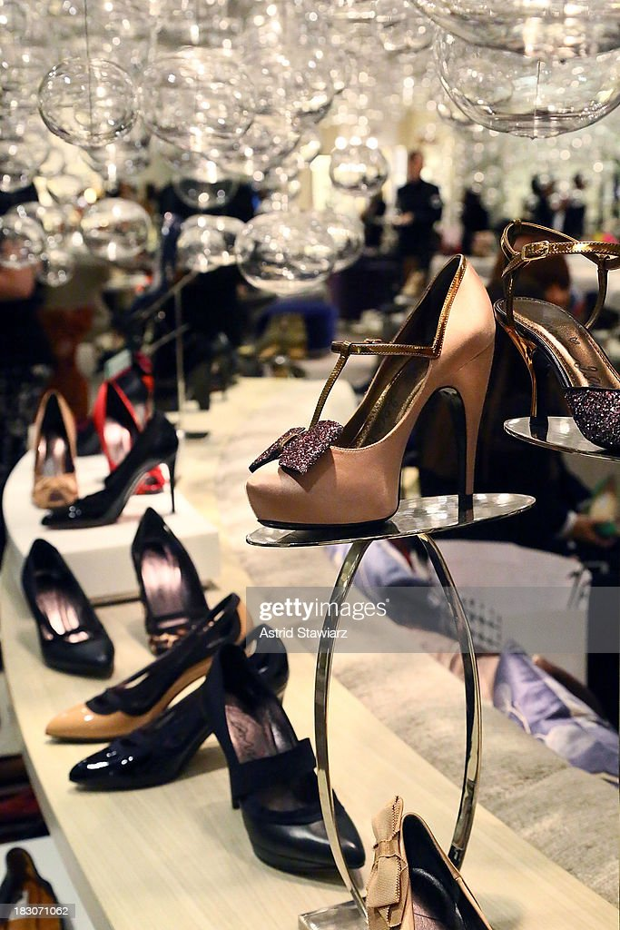 Lanvin shoes are displayed at the 10022-SHOE department during Marie Claire's Shoes First Shopping Event At Saks Fifth Avenue on October 3, 2013 in New York City.