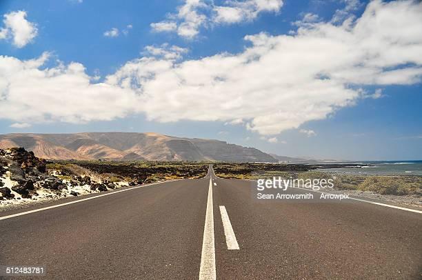 Lanzarote coast road