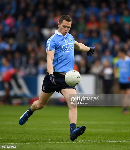 Laois Ireland 3 June 2017 Dean Rock scores Dublin's 9th point from a free during the Leinster GAA Football Senior Championship QuarterFinal match...