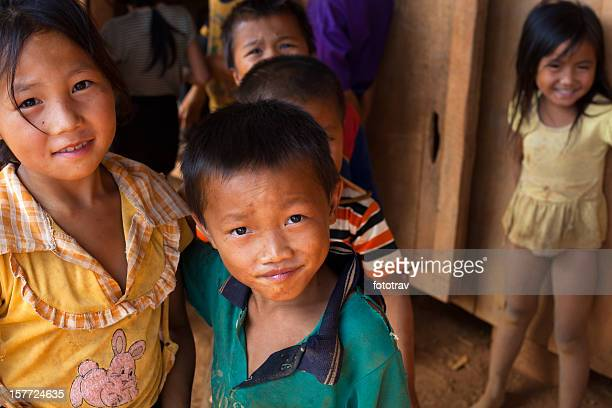 Laos kids looking at a camera